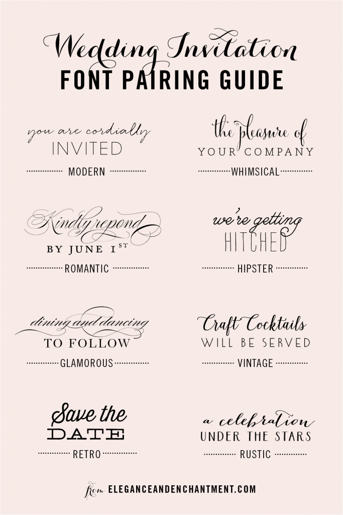 Wedding Invitation Font Pairing Guide Wedding invitation