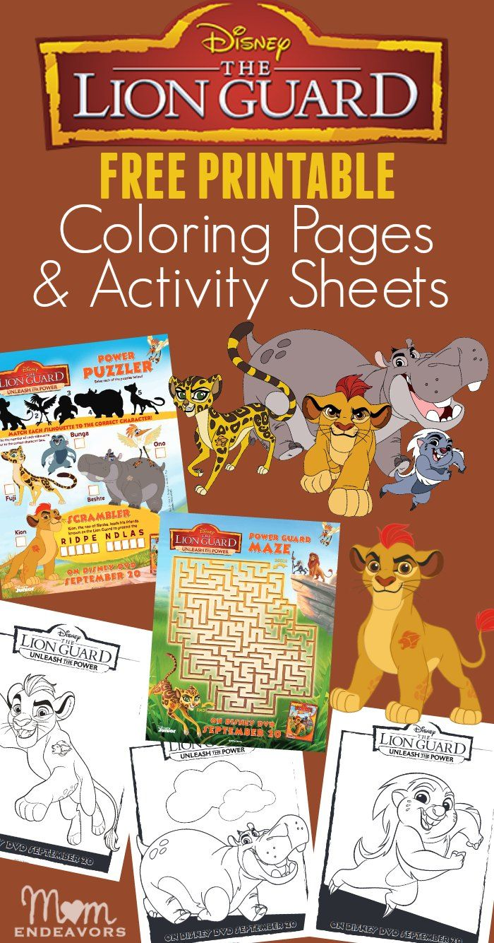 Disney 39 s The Lion Guard Free Printable Coloring Pages