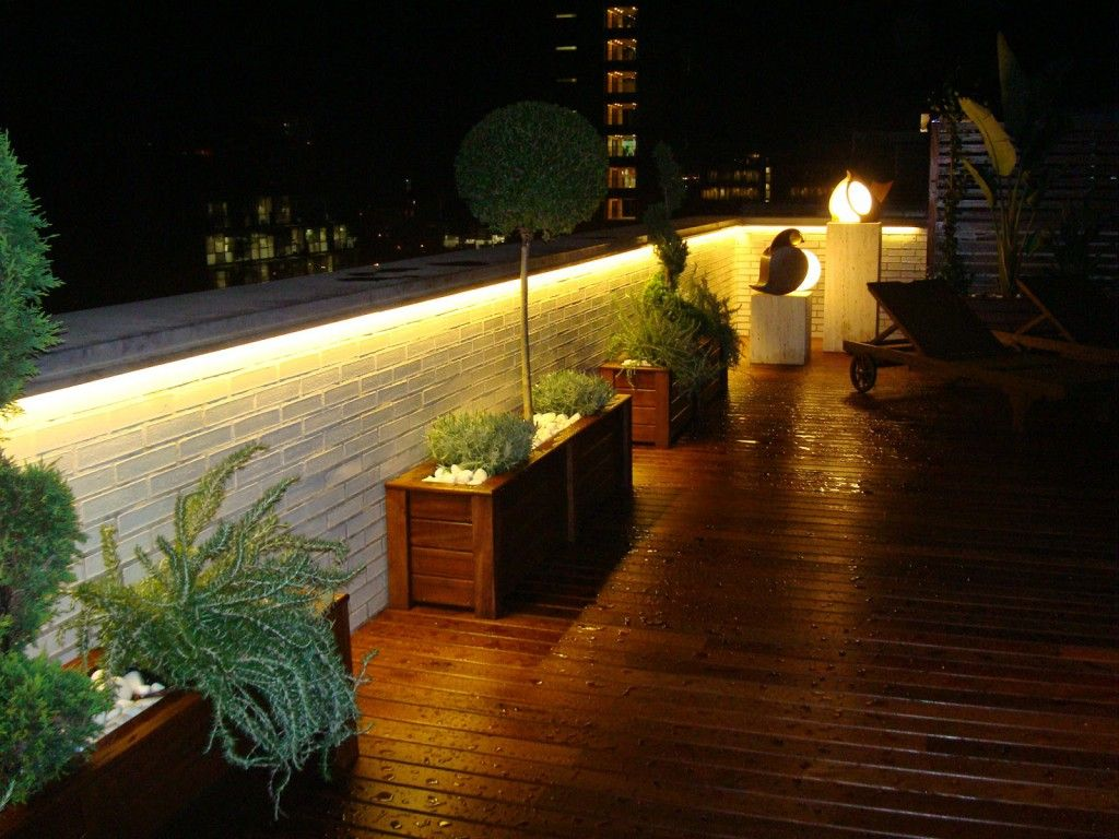 Moderno luces led para terrazas ornamento ideas de - Luces de terraza ...