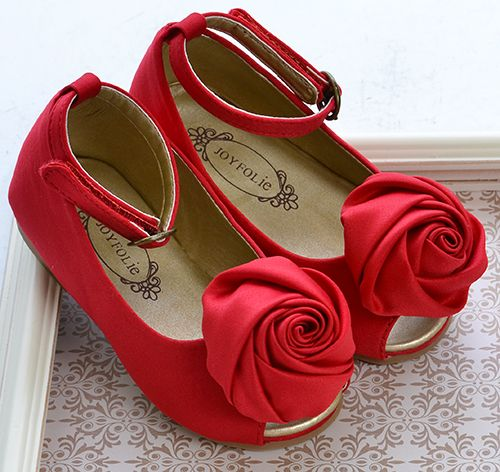 Joyfolie Litle Girls Holiday Shoes Red