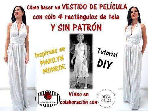 b116d348f5 El vestido de fiesta más fácil del mundo. Look Noche Vieja. DIY. Turorial  costura. Sin moldes - YouTube