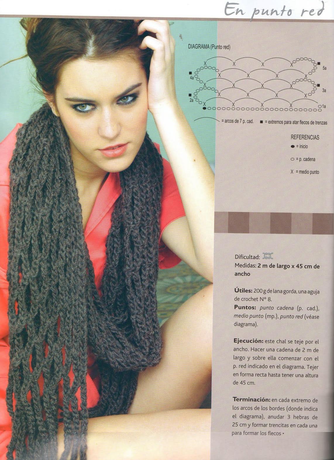 Patrones Crochet: Patron Bufanda Triangulos | Crochet,Tejer y Bordar ...