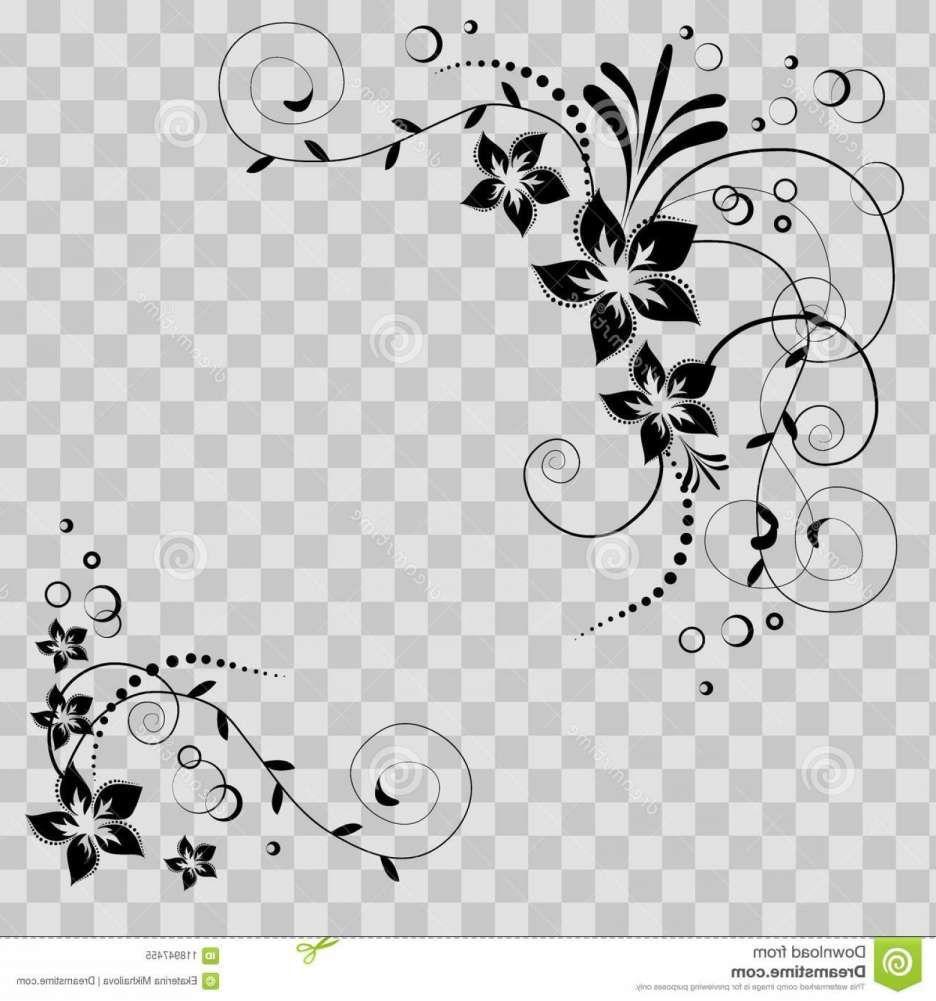 12 Flower Corner Swirls Transparent Background Png Clip Art Borders Transparent Background Floral Art