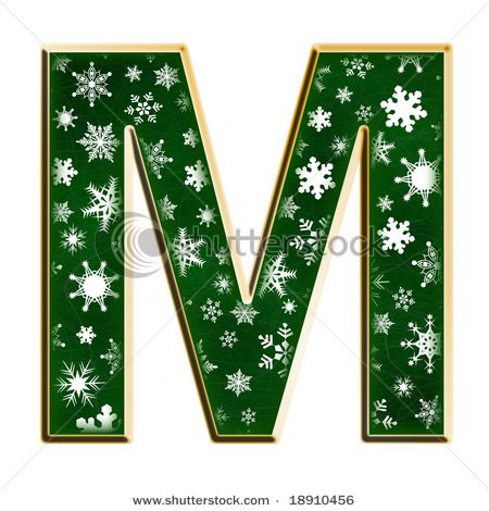 Christmasy letter M
