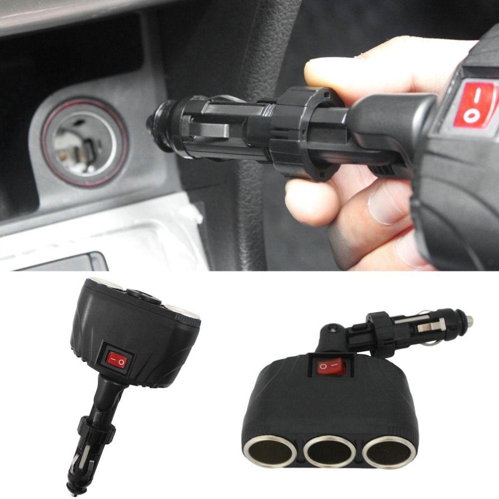 New dcv way auto car cigarette lighter socket splitter