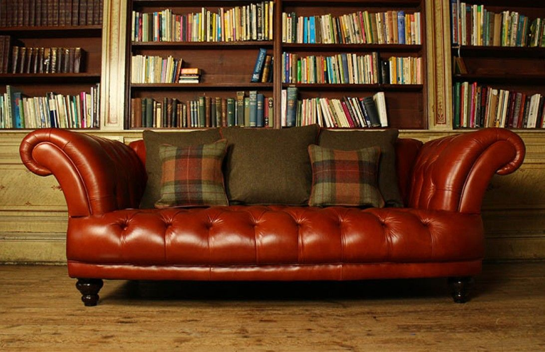 St Edmund Vintage Brown Leather Sofa Is Available In 4 Seater 3