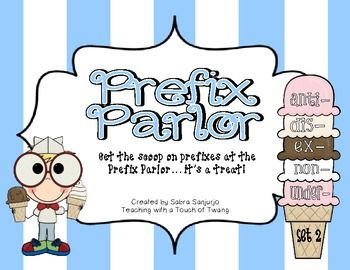 Prefix Parlor: Set 2 - Great for small groups or literacy stations!