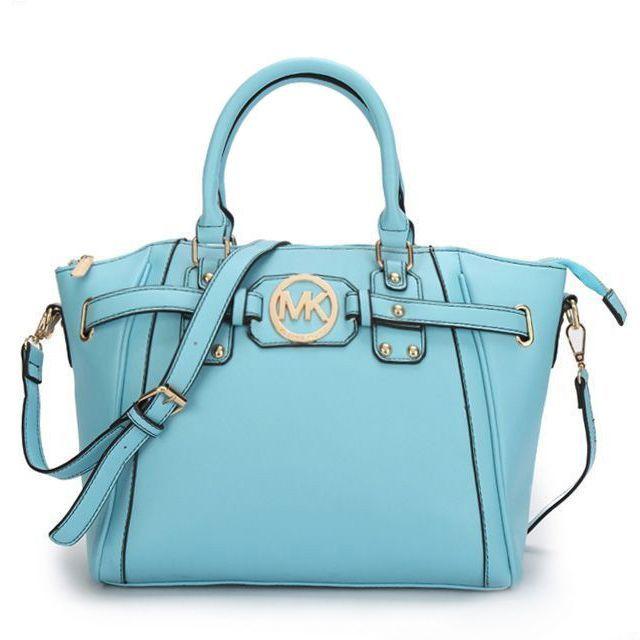 74 99 newest michael kors pebbled leather large blue satchels have rh pinterest com