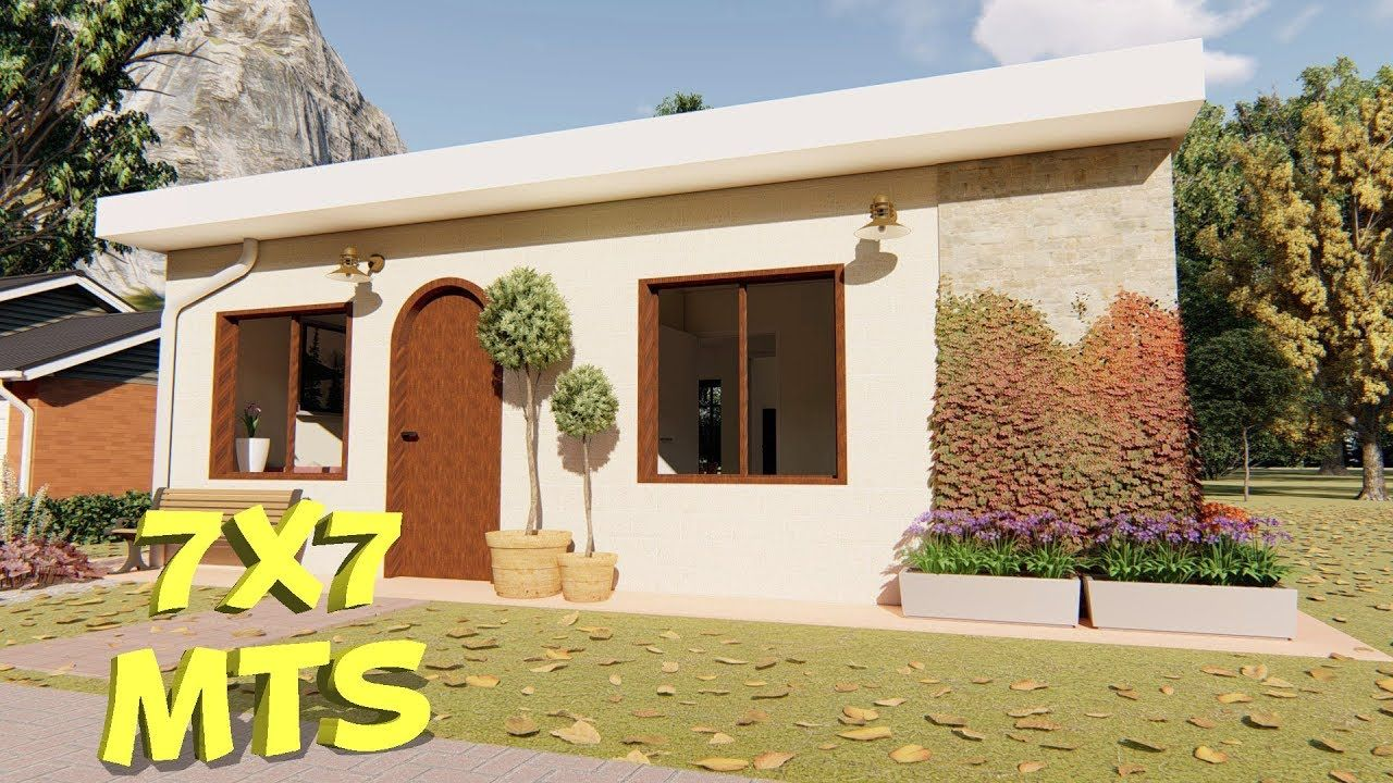 Casa de 7 x 7 metros / Planos de casas de 2 dormitorios