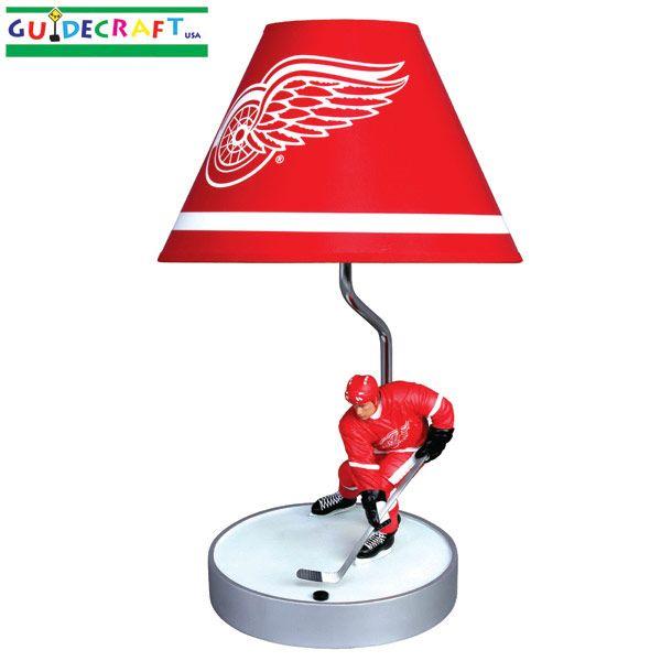 Red wings lamp | Detroit Red Wings Hockey room | Pinterest ...