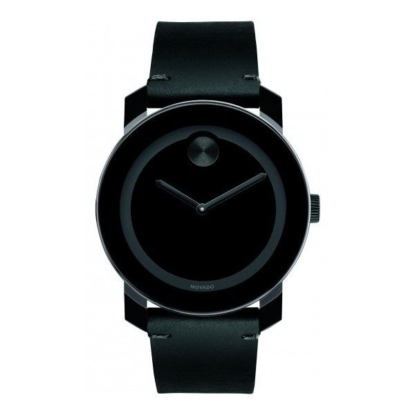e78a5748d Movado Bold featuring polyvore, women's fashion, jewelry, watches, black,  movado jewelry, movado, dot jewelry, leather-strap watches and swiss quartz  ...