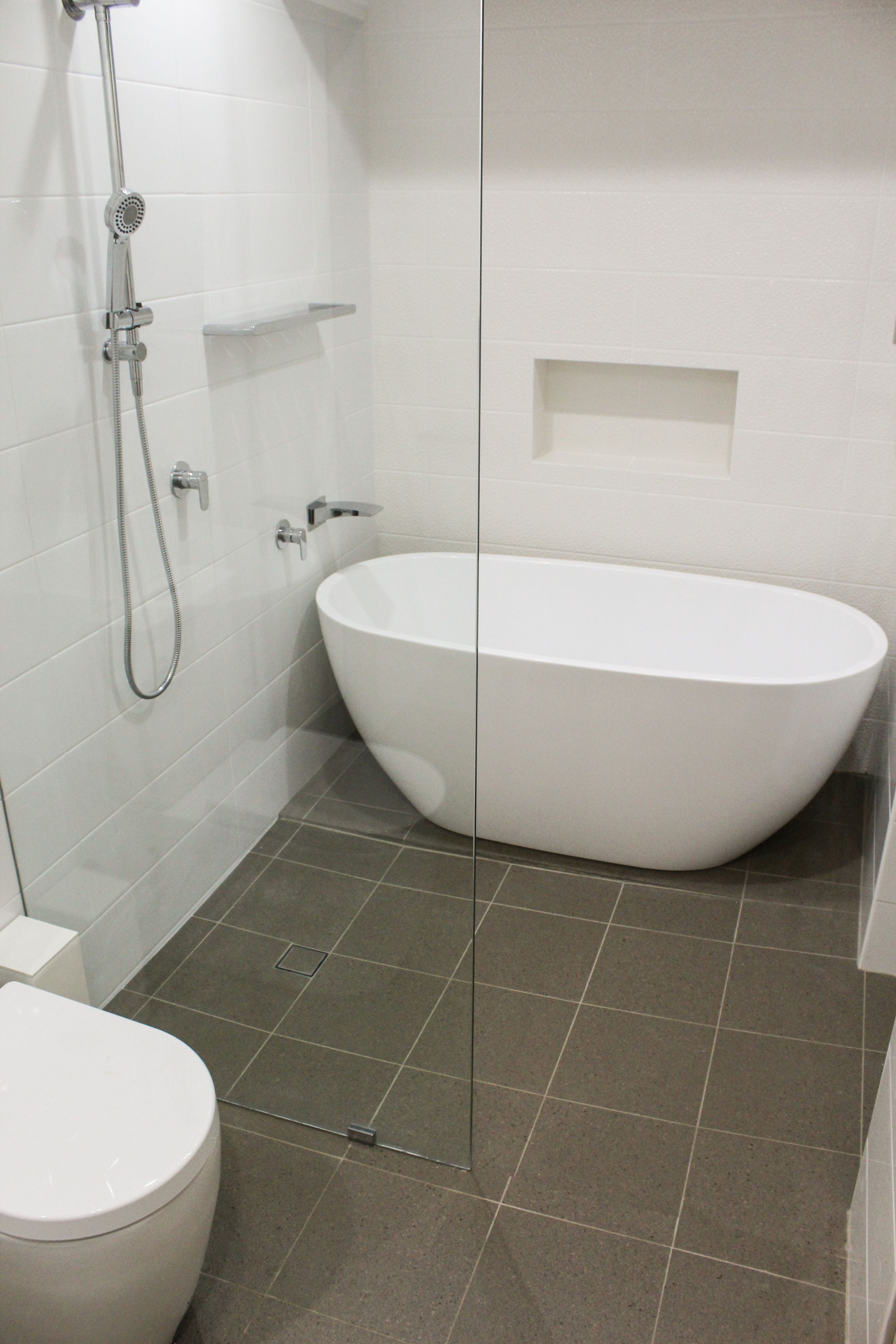 Wet Room - Wet Room Bathrooms - Fixed Panel Shower Screen ... on Wet Room With Freestanding Tub  id=82026