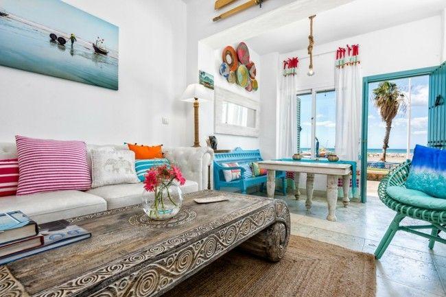 Schön Deko Ideen Mietwohnung Die Wände In Hellen Pastellfarben Streichen  Wohnlicher Aussehen Gemälde Wanddeko Deko Kissen Holztisch
