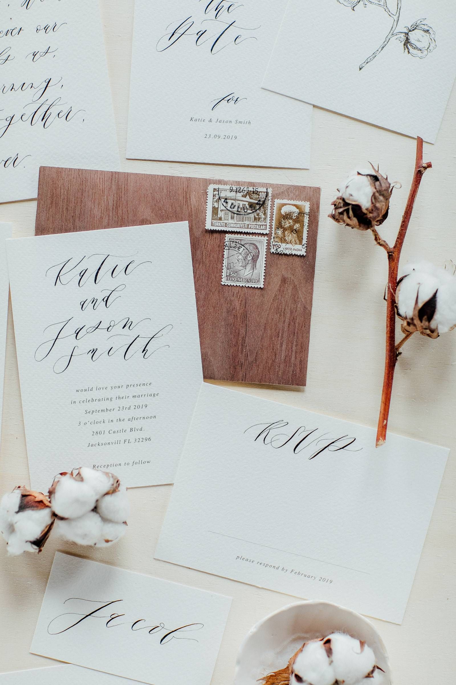 Outside fall wedding decorations february 2019 Elegant handcalligraphed stationery suite using handmade cotton
