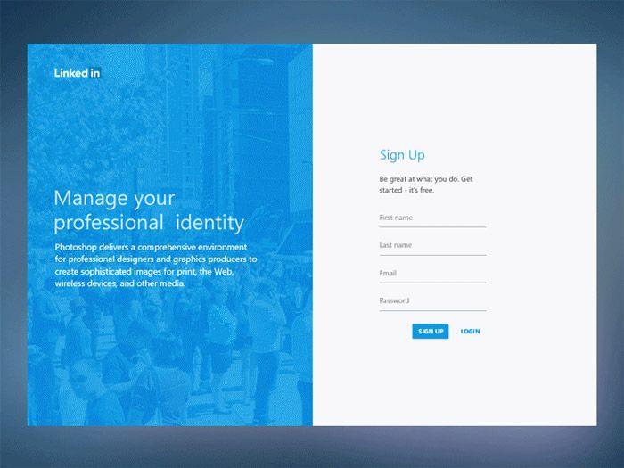 Linkedin Redesign Concept Login Design Login Page Design Web
