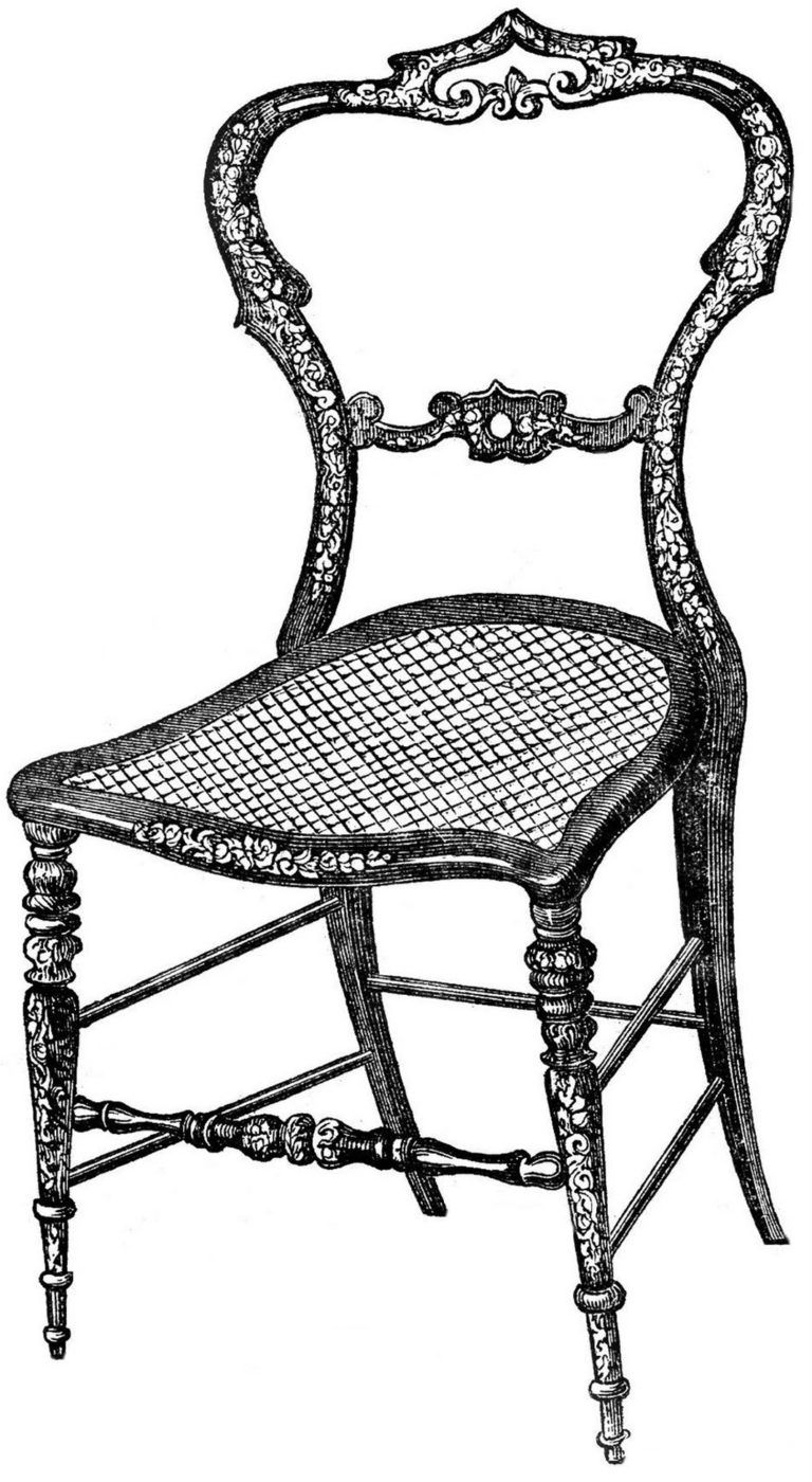 17 Chair Clipart Images Black And White Dining Room Chair Drawing Fancy Chair