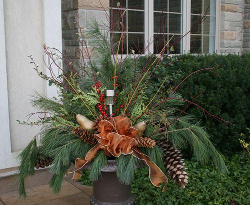 """Large Urns For Decoration Christmas Outdoor Urn Arrangements  Medium Urns 12"""" Large Urns"""