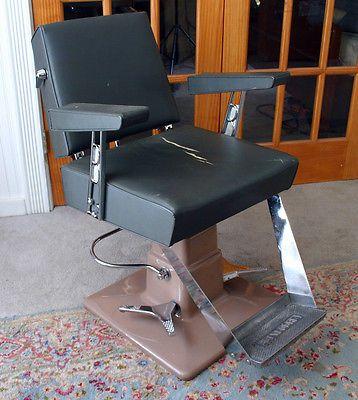 1950 S Tattoo Belvedere Barber Chair Cast Iron Porcelain Chrome