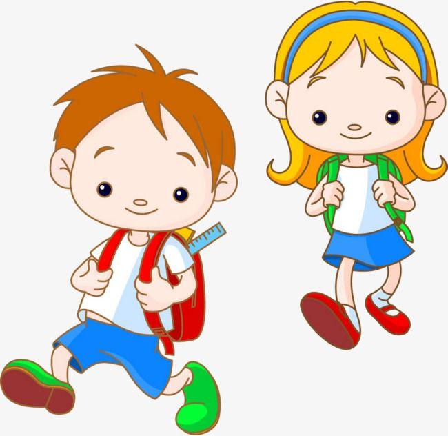 I Am With My Friend Cartoon Kids Kids School Kids Vector