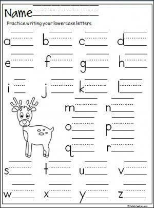 reindeer handwriting | Kindergarten Winter Activities | Pinterest ...