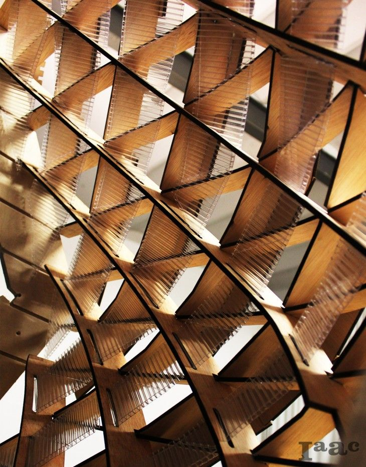 Tri-Axial  waffle  structure     fabrication     Facade, Timber ... 1d62ecf37ad