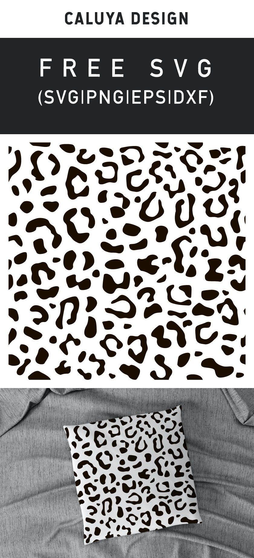 Free Leopard Pattern SVG Cut File  #giftsforcats