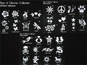 Picture of Best of Glimmer Stencil Set with Design Sheets