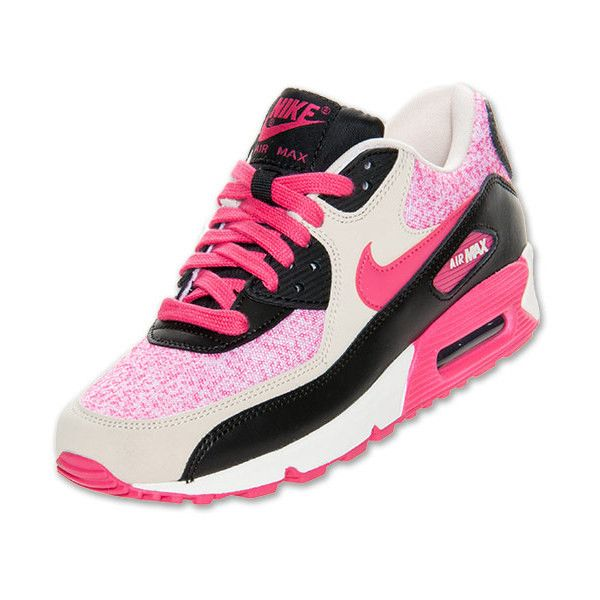 Women's Nike Air Max 90 Running Shoes ($110) found on Polyvore