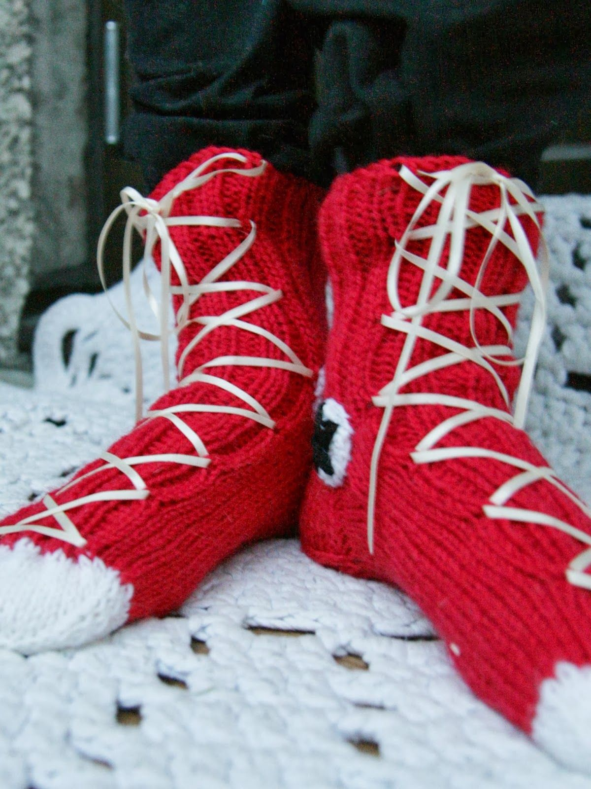 Knitted Converse socks