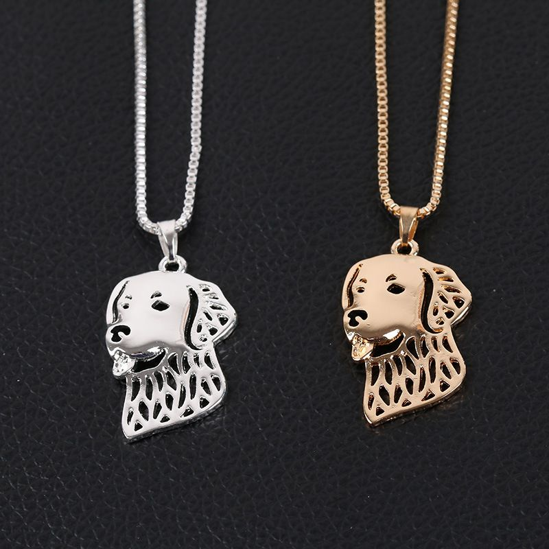 Hollow Pet Dog Necklace Pendant Animal Jewelry Women Girls Choker Chain Collar