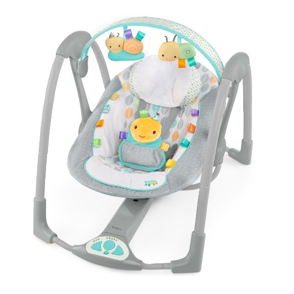 Folding Baby Bouncer | Bright Starts Taggies Swing And Go Portable Swing