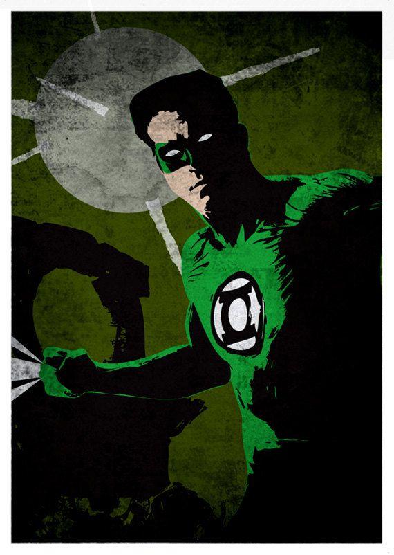 Green lantern comic poster