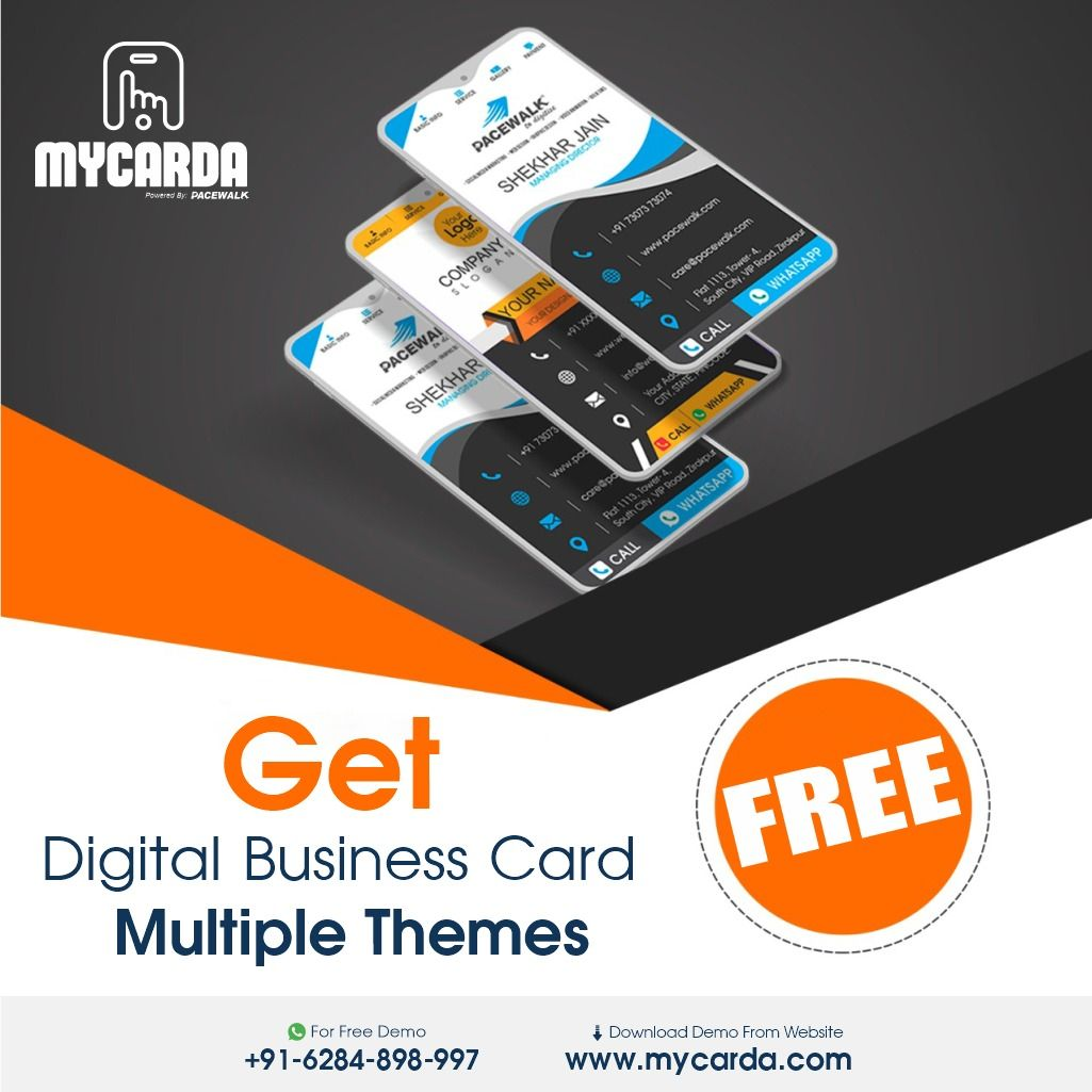 Free Digital Business Cards Digital Business Card Business Card Maker Digital Business