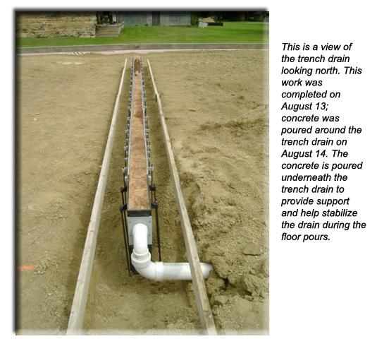 Trench drain driveway pinterest trench drain for Residential trench drain systems