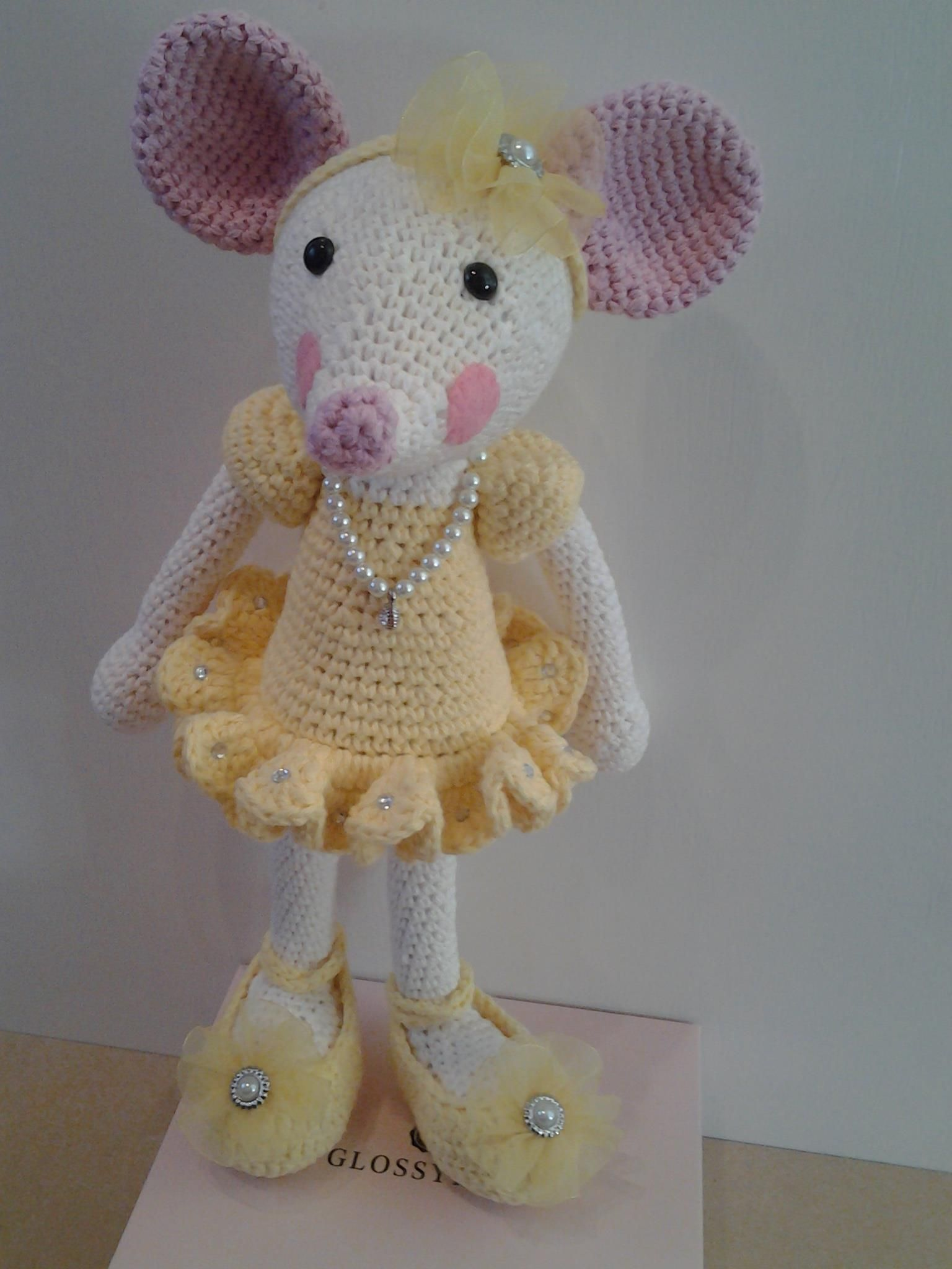 Handmade crochet ballerina mouse. Made with 100% Cotton | Crochet ...