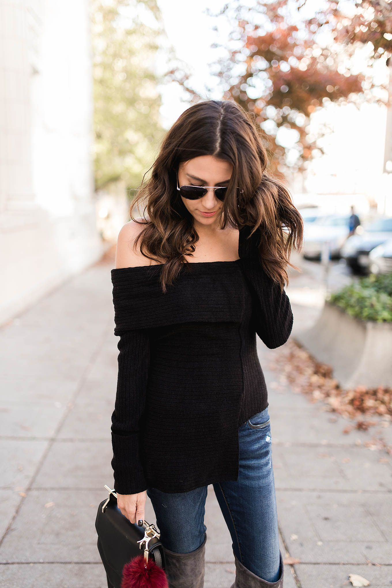 3 Ways to Style Your Off-the-Shoulder Sweater | Hello Fashion ...
