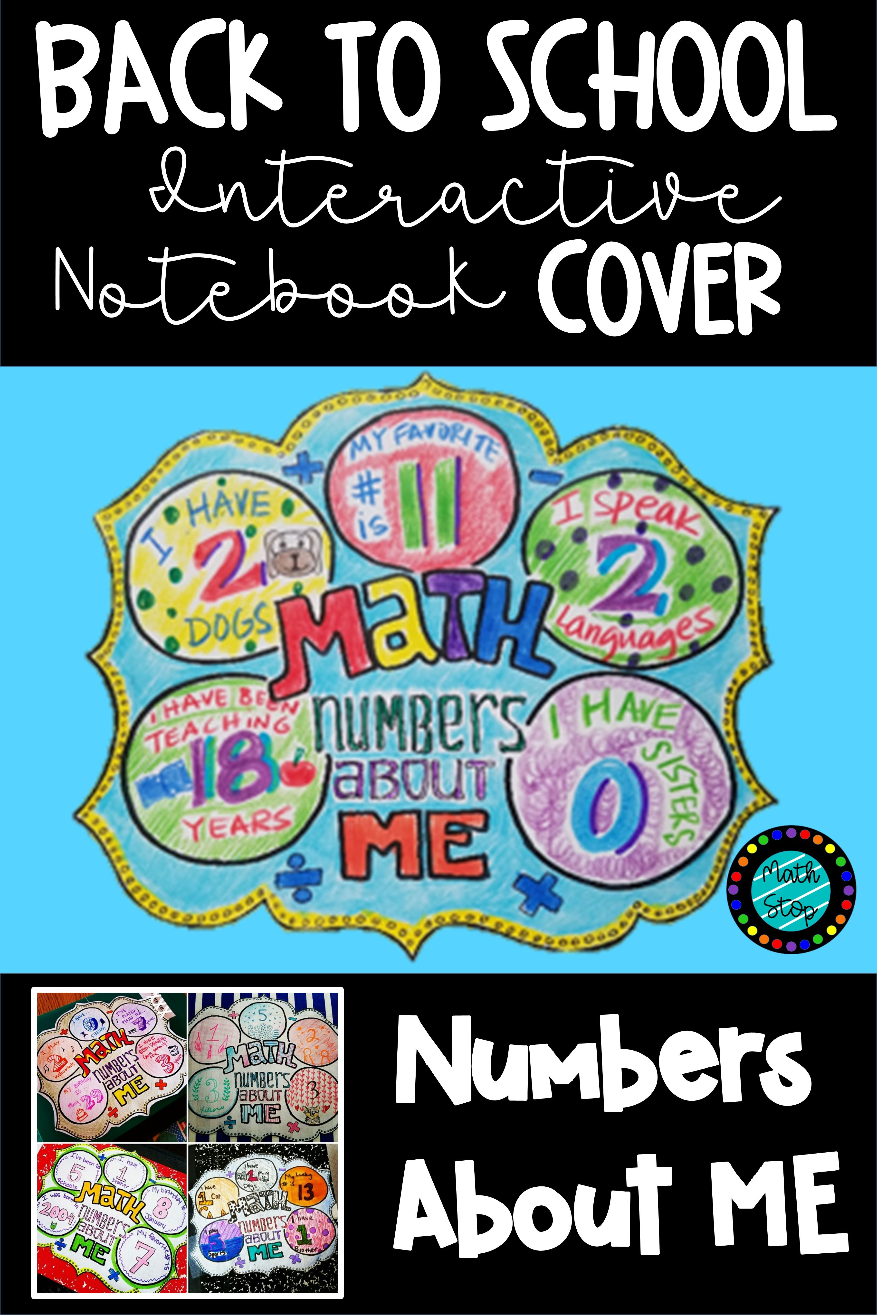 numbers about me cover page (4 designs) | algebra ideas | pinterest