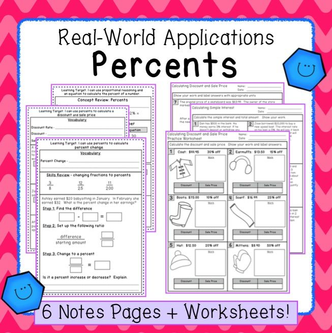 percent applications notes task cards worksheets and assessment percents worksheets and math. Black Bedroom Furniture Sets. Home Design Ideas