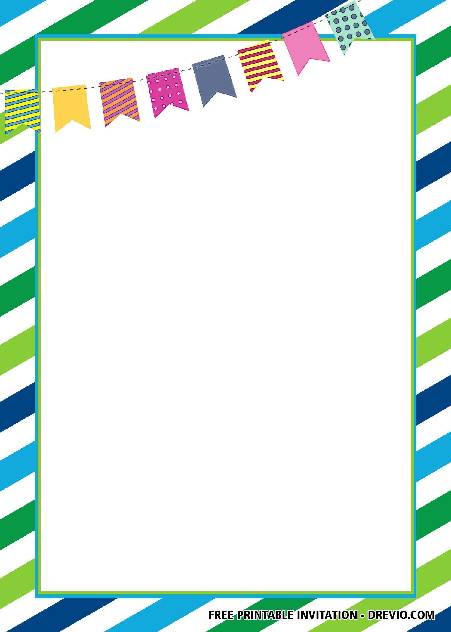 Free Blue Green Invitation Templates Free Printable Baby Shower Invitations Green Invitations Printable Baby Shower Invitations