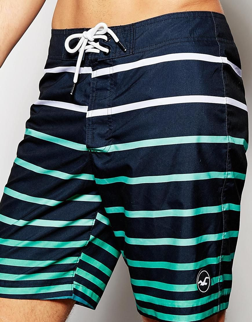 Image 3 of Hollister Stripe Board Shorts | Swimsuits | Pinterest ...
