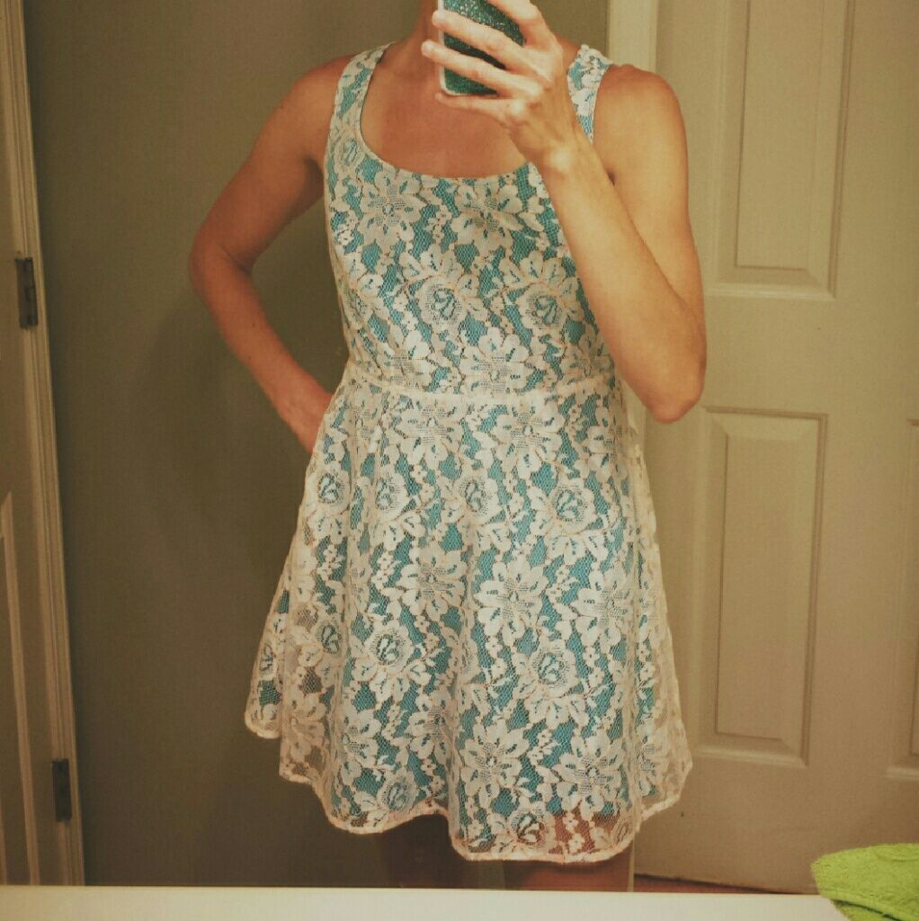 Host pick ft lacey cross back dress new products