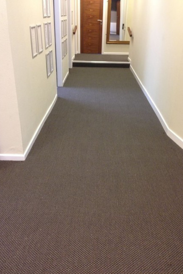 Our Sisal Malay flooring installed in this dental practice