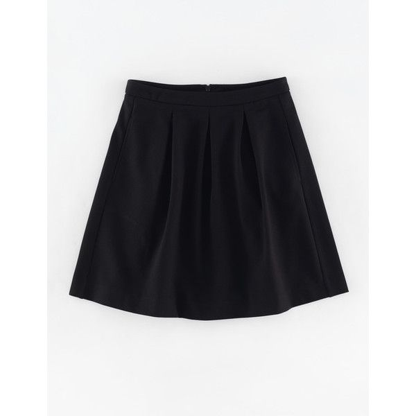 Boden Isabella Ponte Skirt ($53) ❤ liked on Polyvore featuring skirts, mini skirts, black, retro mini skirt, ponte skirt, boden skirts, ponte knit skirt and retro skirts