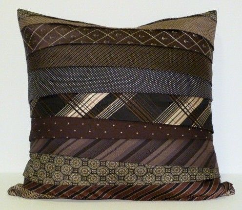 Unique vintage necktie pillow *I made one of these already ...