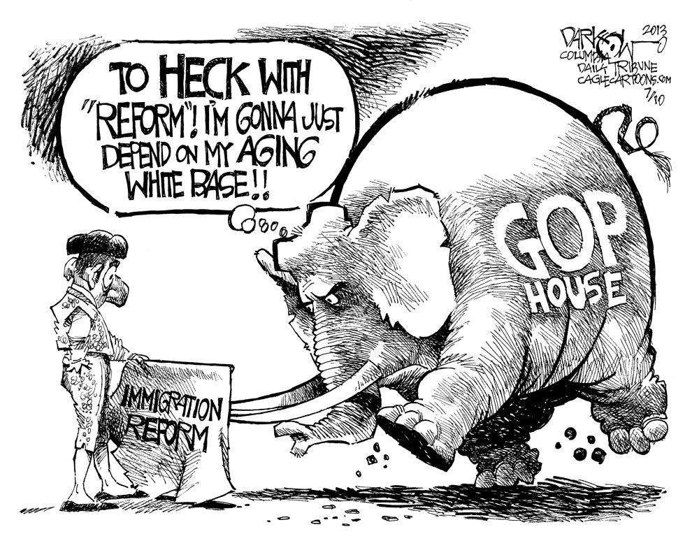 Immigration Reform   Cartoons   Immigration reform, Senator