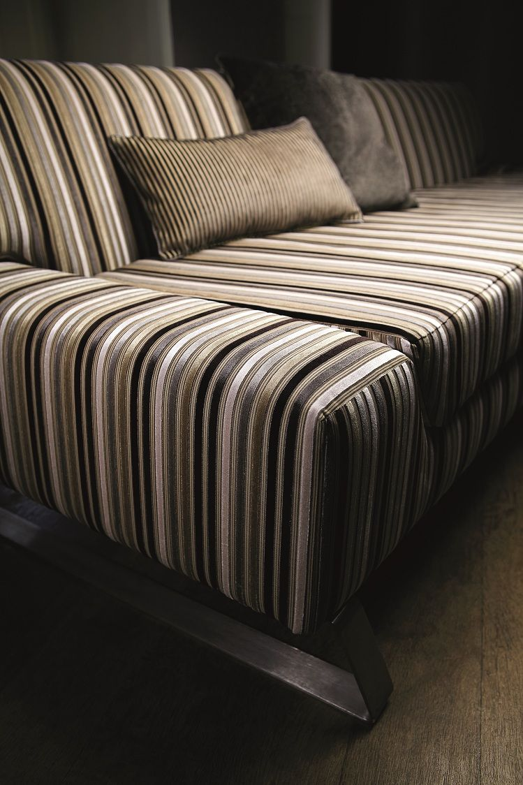 A #beautiful luxurious range of cut #velvets in a versatile #colour palette. #Designs include an ombre #stripe, a checker board #design, a strié and a feature stripe on a multi striped ground. Fabrics from Milano, Harlequin, #Goodrich