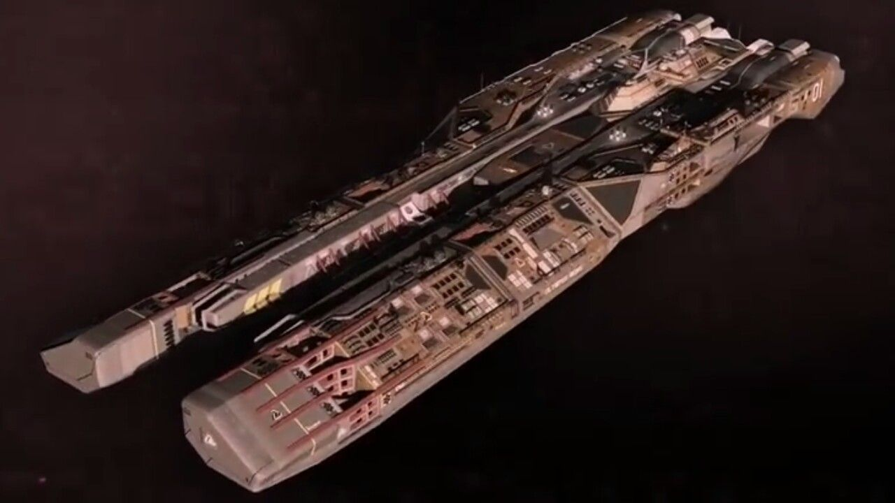 Olympus Mons Class Space Warfare Supercarrier Spaceship