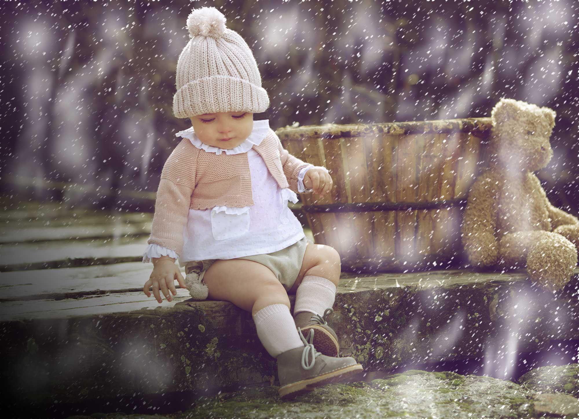 Martin Aranda Baby Girls 2 Piece Pom la pom Set