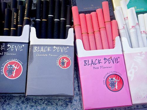 Black devil cigarettes pink online wall outlet cigarette lighter adapter