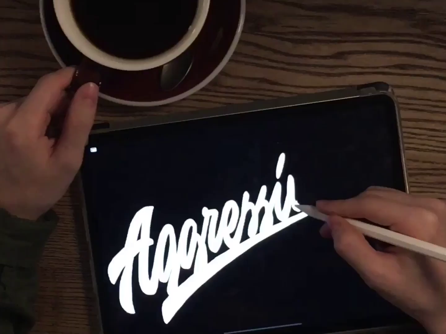 Aggressive Lettering Logo Design Process for Clothing